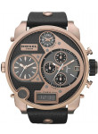 Diesel Men's Mr Daddy Chronograph Black Dial Black Leather Watch DZ7261