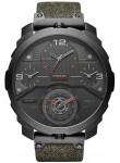 Diesel Men's Machinus 4 Timezone Dial Black Fabric Strap Watch DZ7358