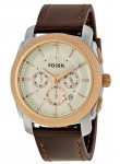 Fossil Men's Machine Chronograph Brown Leather Watch FS5040