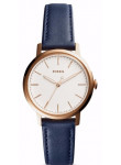 Fossil Women's Neely White Dial Blue Leather Watch ES4338