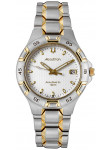 Accutron Men's Automatic White Dial Two Tone Stainless Steel Watch 28B62