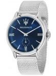 Maserati Men's Epoca Blue Dial Silver Mesh Watch R8853118006