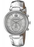 Michael Kors Women's Silver Dial Silver Leather Strap Watch MK2443