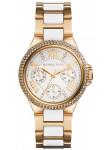 Michael Kors Women's Camille White Dial Gold Tone Watch MK5945