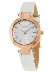 DKNY Women's Stanhope White Dial White Leather Watch NY2405