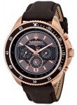 Maserati Men's Brown Dial Leather Strap Watch R8851101006