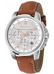 Maserati Men's Successo Chronograph Brown Leather Watch R8871621005