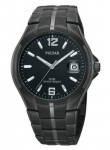 Pulsar Men's Black Dial Stainless Steel Black Watch PXH753