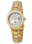 Seiko Coutura Solar Women's Mother of Pearl Gold Stainless Steel Watch SUT242
