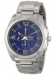 Seiko Men's Blue Dial Stainless Steel Chronograph Watch SSC201