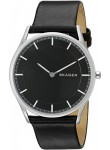 Skagen Men's Holst Black Dial Black Leather Watch SKW6220