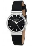 Skagen Women's Ancher Black Leather Diamond Watch SKW2193
