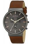 Skagen Men's Ancher Chronograph Brown Leather Watch SKW6106