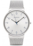 Skagen Men's Ancher Silver Mesh Silver Dial Watch SKW6163