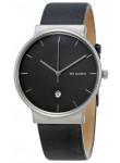 Skagen Men's Ancher Black Leather Watch SKW6320