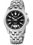 Seiko Men's Black Dial Stainless Steel Watch SNQ101