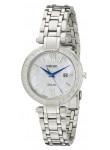 Seiko Women's Tressia Solar Diamond Stainless Steel Watch SUT181