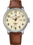 Tommy Hilfiger Men's Jasper Beige Dial Brown Leather Watch 1791315