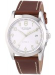 Victorinox Men's Infantry Automatic Silver Dial Brown Leather Watch 241566