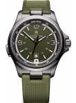 Victorinox Men's Night Vision Olive Green Dial Green Rubber Strap Watch 241595