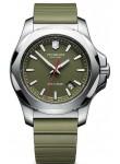 Victorinox Men's I.N.O.X Green Dial Green Rubber Bracelet Watch 241683.1