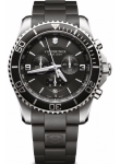 Victorinox Men's Maverick Chronograph Black Dial Black Rubber Strap Watch 241696