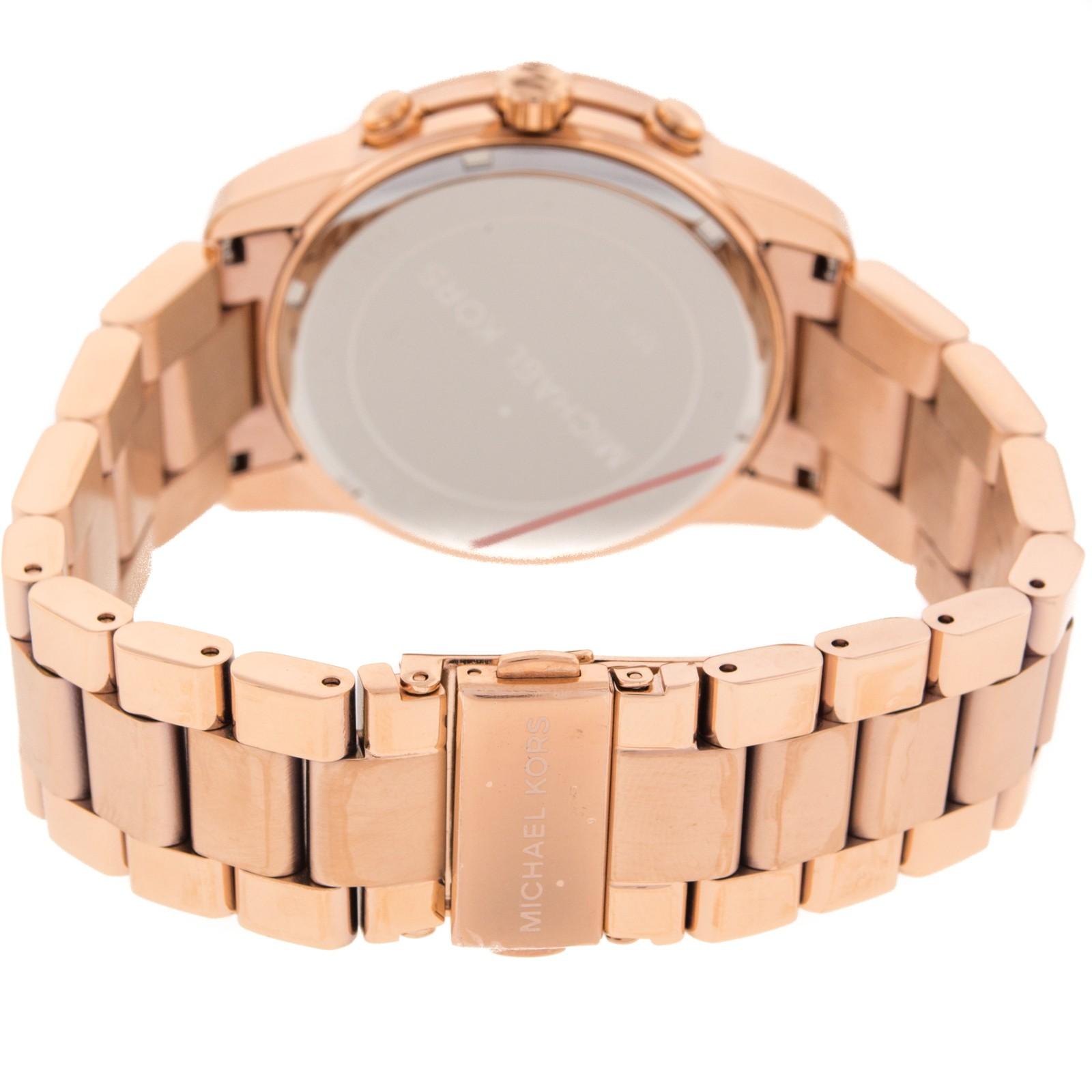 a2509e9752d1 Michael Kors Women s Runway Chronograph Rose Gold Dial Watch MK8096